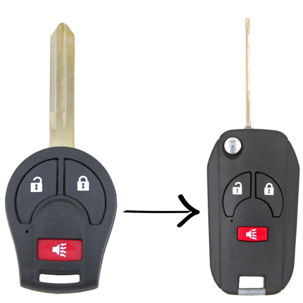 To Suit Nissan Tiida X-Trail Micra Remote Flip Key Conversion Shell/Case/Enclosure