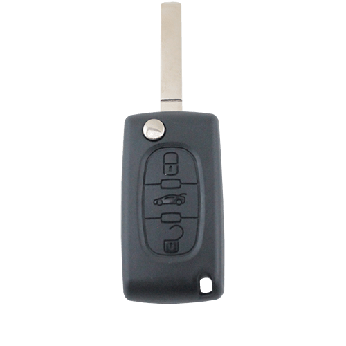 Citroen C2/C3/C4/C5/C6/C8 3 Button Remote Flip Key Blank Shell/Case/Enclosure - Remote Pro - 1
