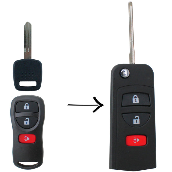 To Suit Nissan 3 Button Flip Key Remote Case