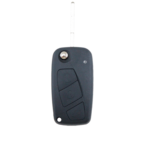 Fiat 3 Button Flip Key Remote Case/Shell/Blank Punto Bravo Stilo Black - Remote Pro - 1