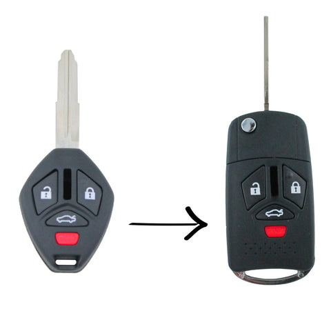 Mitsubishi 380 2005 - 2008 Remote Flip Key Blank Replacement Shell/Case - Remote Pro - 1
