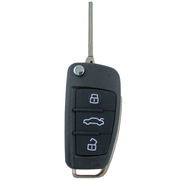 Audi 3 Button Flip Uncut Key - Remote Pro - 1