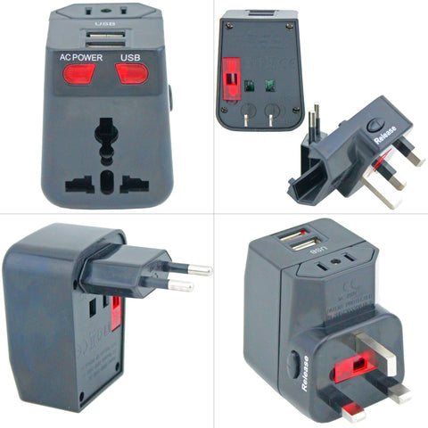 Universal Travel Plug/Adapter Black - Remote Pro