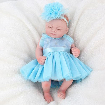 "11"" Little Lily Reborn Baby Girl Full Silicone Doll - Reborn Shoppe"
