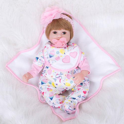 "16"" Cute Marria Reborn Baby Doll Girl - Reborn Shoppe"