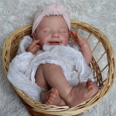 "17"" Cute Bald Cecily Reborn Baby Doll Girl - Reborn Shoppe"
