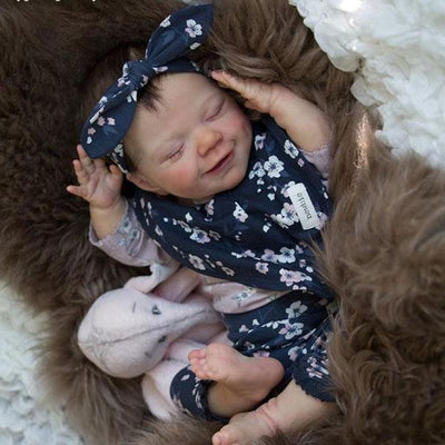 "17"" Cute Sophie Reborn Baby Doll Girl Silicone Vinyl Baby Doll - Reborn Shoppe"