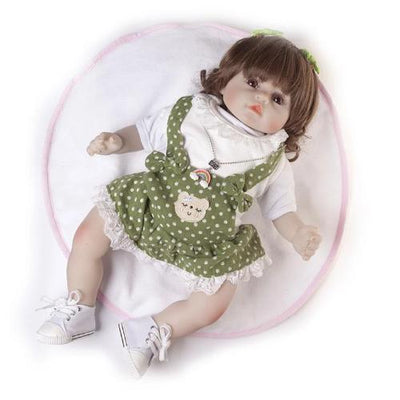 "18"" Cute Sofia Full Silicone Reborn Baby Doll Girl - Reborn Shoppe"