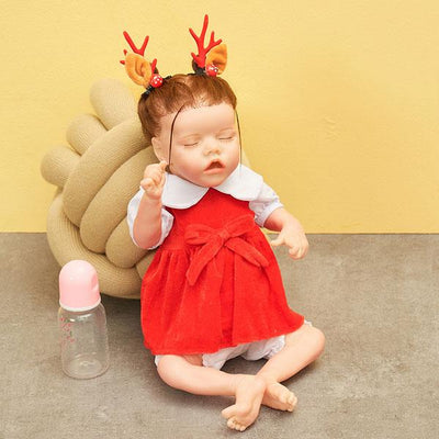 "20""- 22"" Cute Reborn Doll Outfit Red Skirt - Reborn Shoppe"
