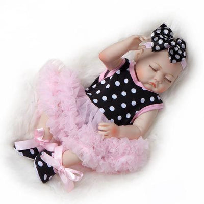 "20"" Sleeping Chaya Full Silicone Reborn Baby Doll Girl - Reborn Shoppe"