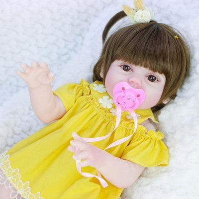 "22"" Little Alva Reborn Doll Girl with Drink and Wet System - Reborn Shoppe"