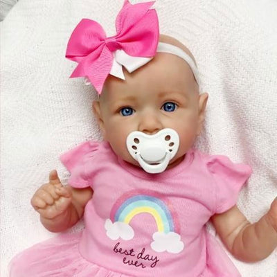 22'' Little Bald Holland Lifelike Reborn Baby Doll Girl With Blue Eyes - Reborn Shoppe