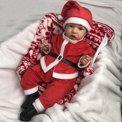 22'' Little Drew Reborn Baby Doll Boy with Christmas Costume - Reborn Shoppe