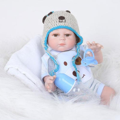 "22"" Little Edsion Full Silicone Reborn Baby Doll - Reborn Shoppe"