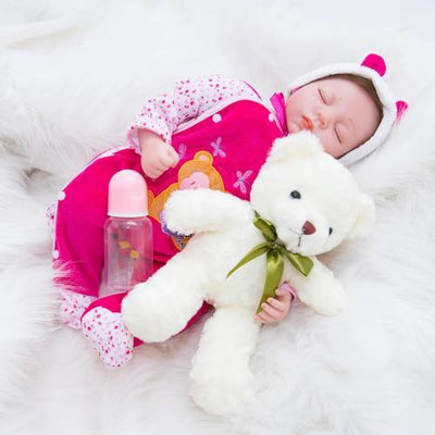 "22"" Little Maria Full Silicone Reborn Baby Doll Girl - Reborn Shoppe"