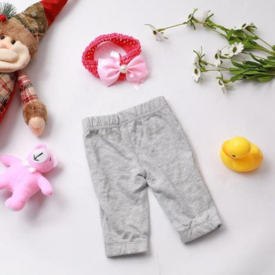 "Grey Doll Pants for 20""- 22"" Reborn Baby Doll Girl - Reborn Shoppe"