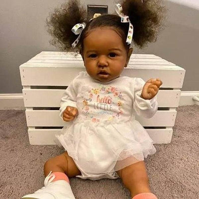 lifelike 22'' Little Diaz Reborn Baby Doll African American Girl - Reborn Shoppe
