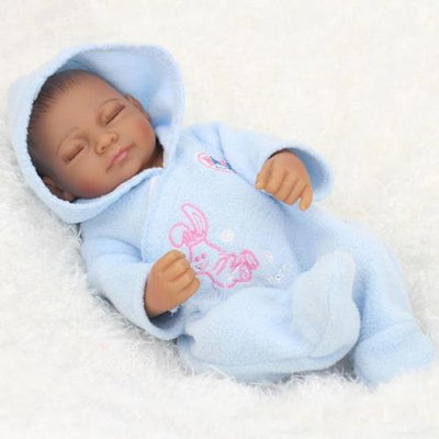 "NPK 10"" Little James Reborn Baby Boy - African American Black Doll - Reborn Shoppe"