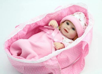 "NPK DOLL 10"" Cute Erin Reborn Baby Girl - Full Silicone Doll - Reborn Shoppe"