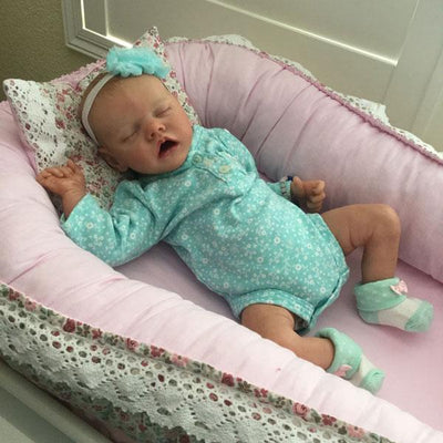 "[Summer Promotion] 17"" Fendi Reborn Baby Doll Girl - Reborn Shoppe"