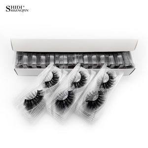 SHIDISHANGPIN 30 pairs eyelashes natural long 3d mink lashes wholesale false eyelashes makeup mink eyelashes eyelash extensions|False Eyelashes