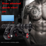 3 Wheels AB Roller Workout  Machine  Knee Pad Stretch