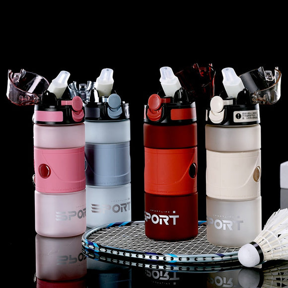 Leak-proof Sport Water Bottle With Straw