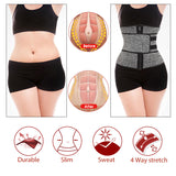 Neoprene Sauna Waist Trainer Corset Sweat Belt for Women Weight Loss Compression Trimmer Workout Fitness