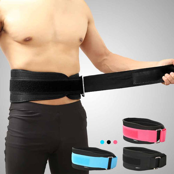 Waist Support Belt Weight Lifting Nylon EVA Weightlifting Squat Belt Lower Back Support Gym Bodybuilding Squats Training