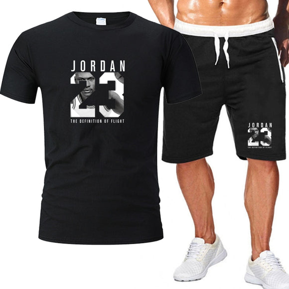 2piece set mens outfits jordan 23 t-shirt shorts
