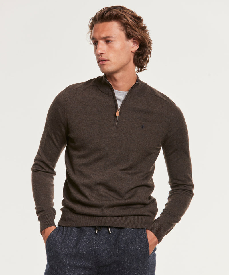 Merino John Zip (88 Brown)
