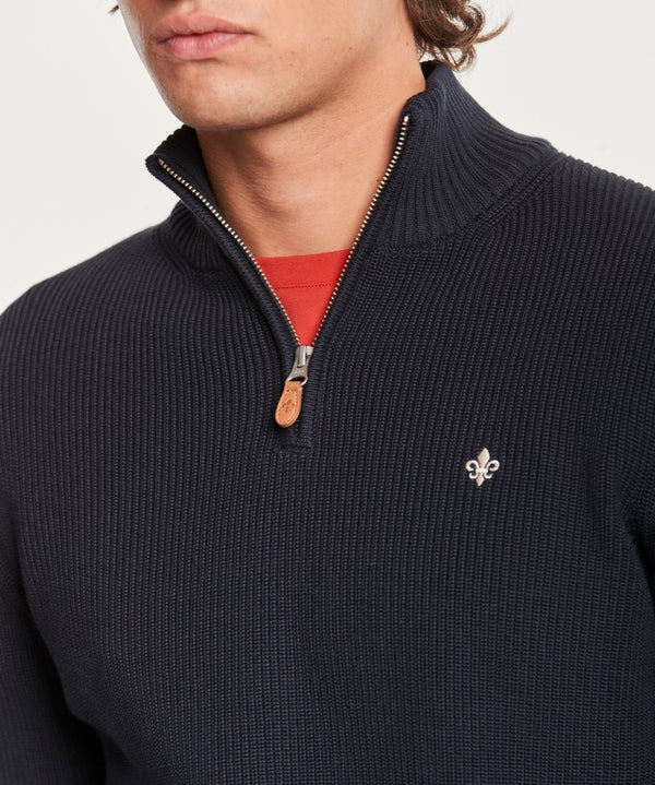 Bernard Half Zip (59 Old Blue)