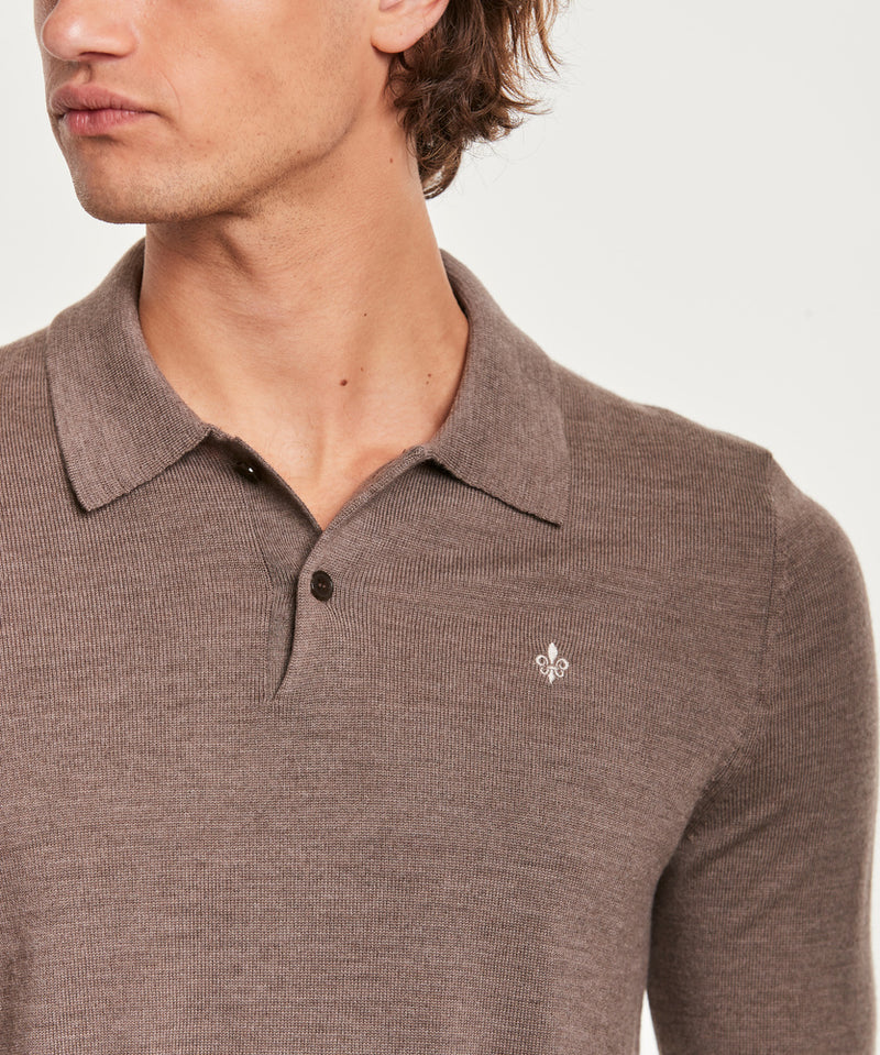 Merino Polo Shirt (84 Brown) - D.O Design Only