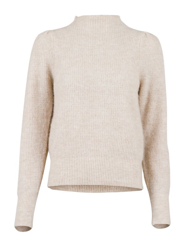 Marlia Knit Blouse (119 Sand Melange) - D.O Design Only