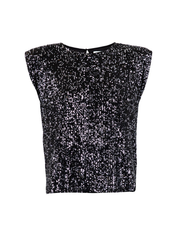 Judith Sequins Tee (100 Black)