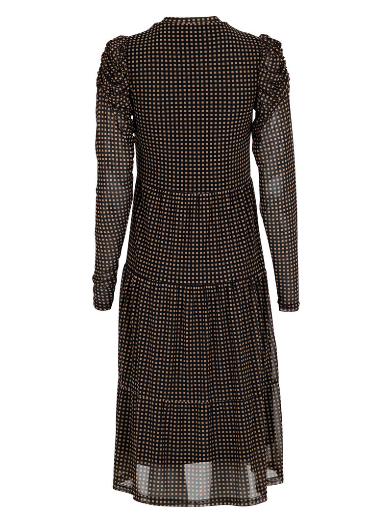 Marie Square Mesh Dress (100 Black)