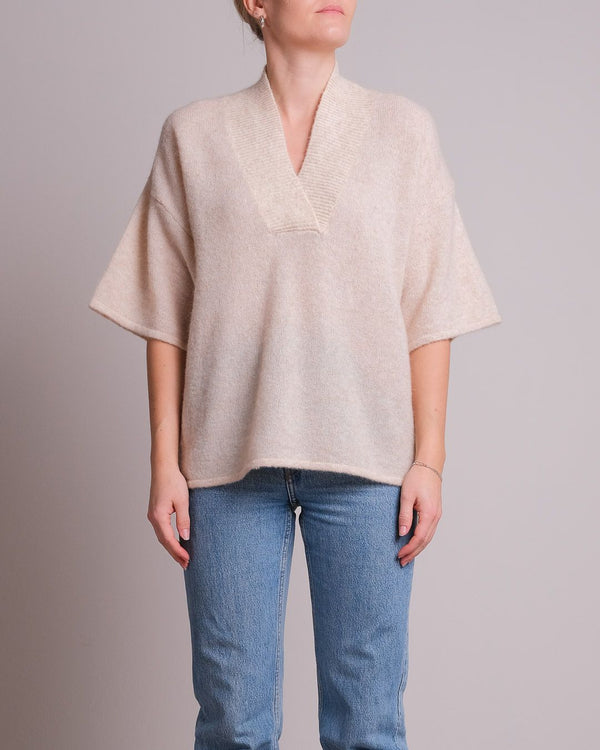 Kally Knit Blouse (119 Sand Melange)