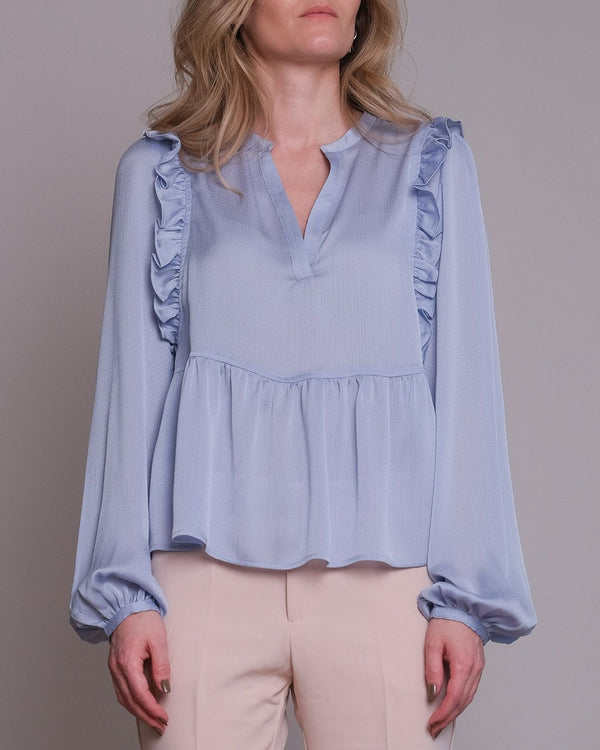 Celia Solid Blouse (145 Light Blue)