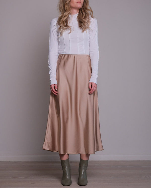 Bovary Sateen Skirt (543 Camel)