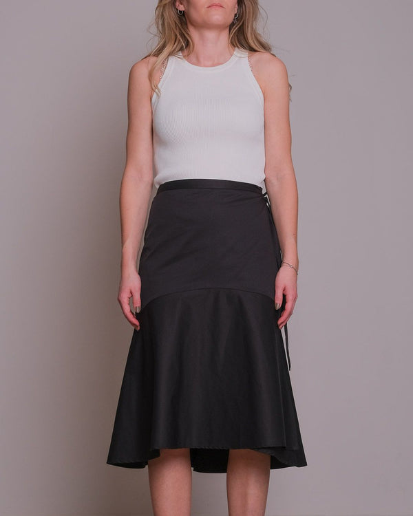 Anderson Poplin Wrap Skirt (100 Black)