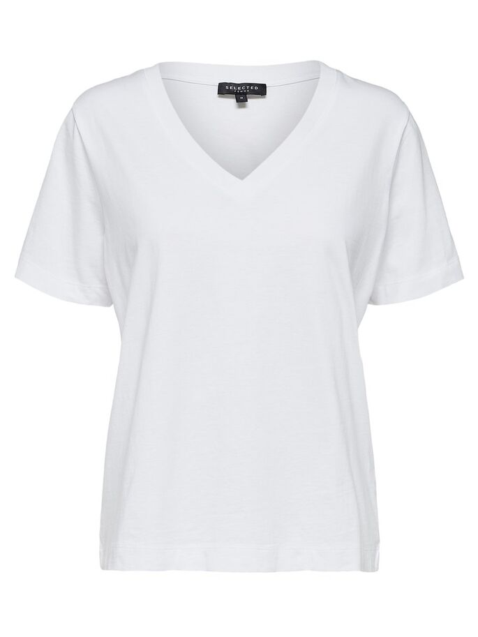 SLFSTANDARD SS V-NECK TEE NOOS (bright white) - D.O Design Only