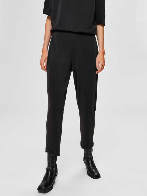 SLFTENNY MW ANKLE PANT B (BLACK) - D.O Design Only