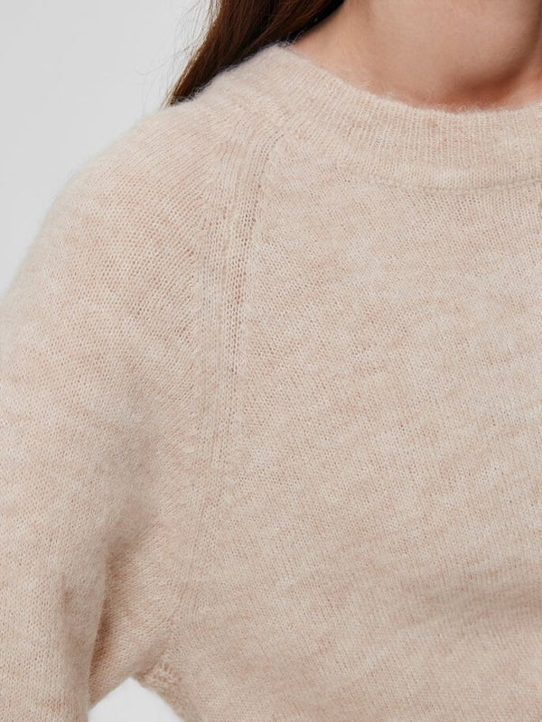 SLFLULU LS KNIT O-NECK  NOOS (Birch) - D.O Design Only