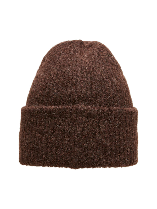 SLFLINNA KNIT BEANIE B (Coffee Bean) - D.O Design Only