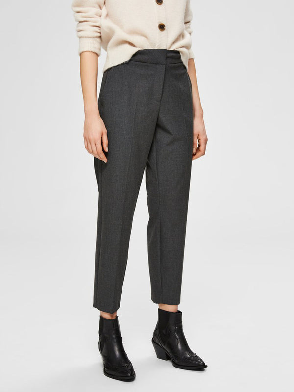 SLFRIA MW CROPPED PANT DGM NOOS (Dark Grey) - D.O Design Only