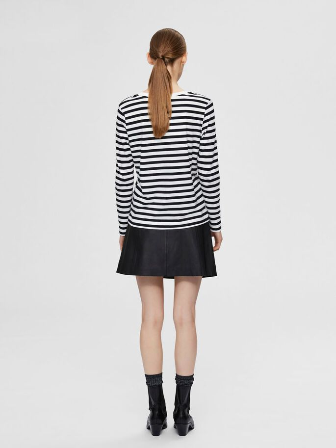 SLFSTANDARD LS TEE STR NOOS (Black w stripes snow white)
