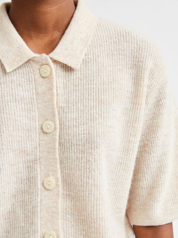 SLFHANNE 2/4 KNIT CARDIGAN W (Birch)