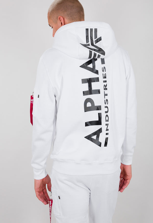 Back Print Hoody (09 white)
