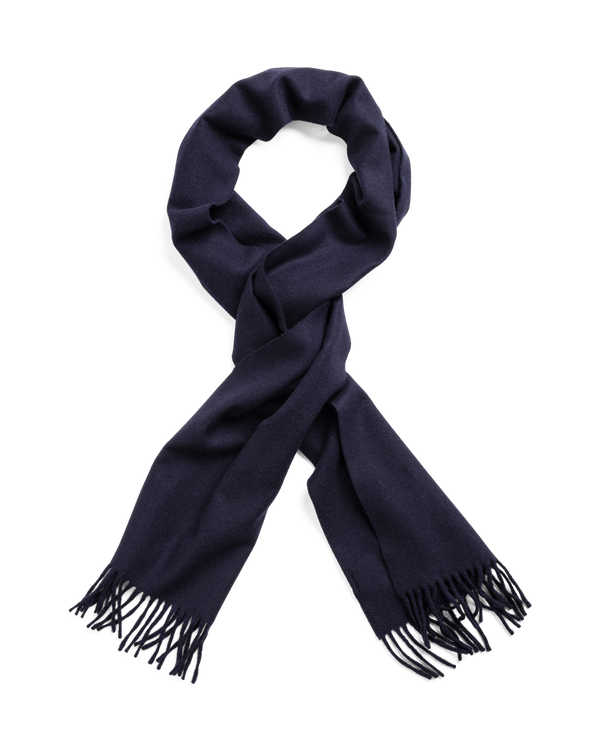 SOLID WOOL SCARF (405 Navy)