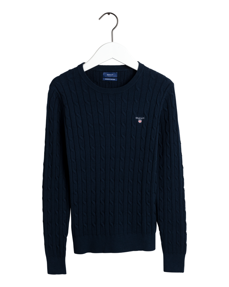 COTTON CABLE CREW (433 EVENING BLUE) - D.O. Design Only